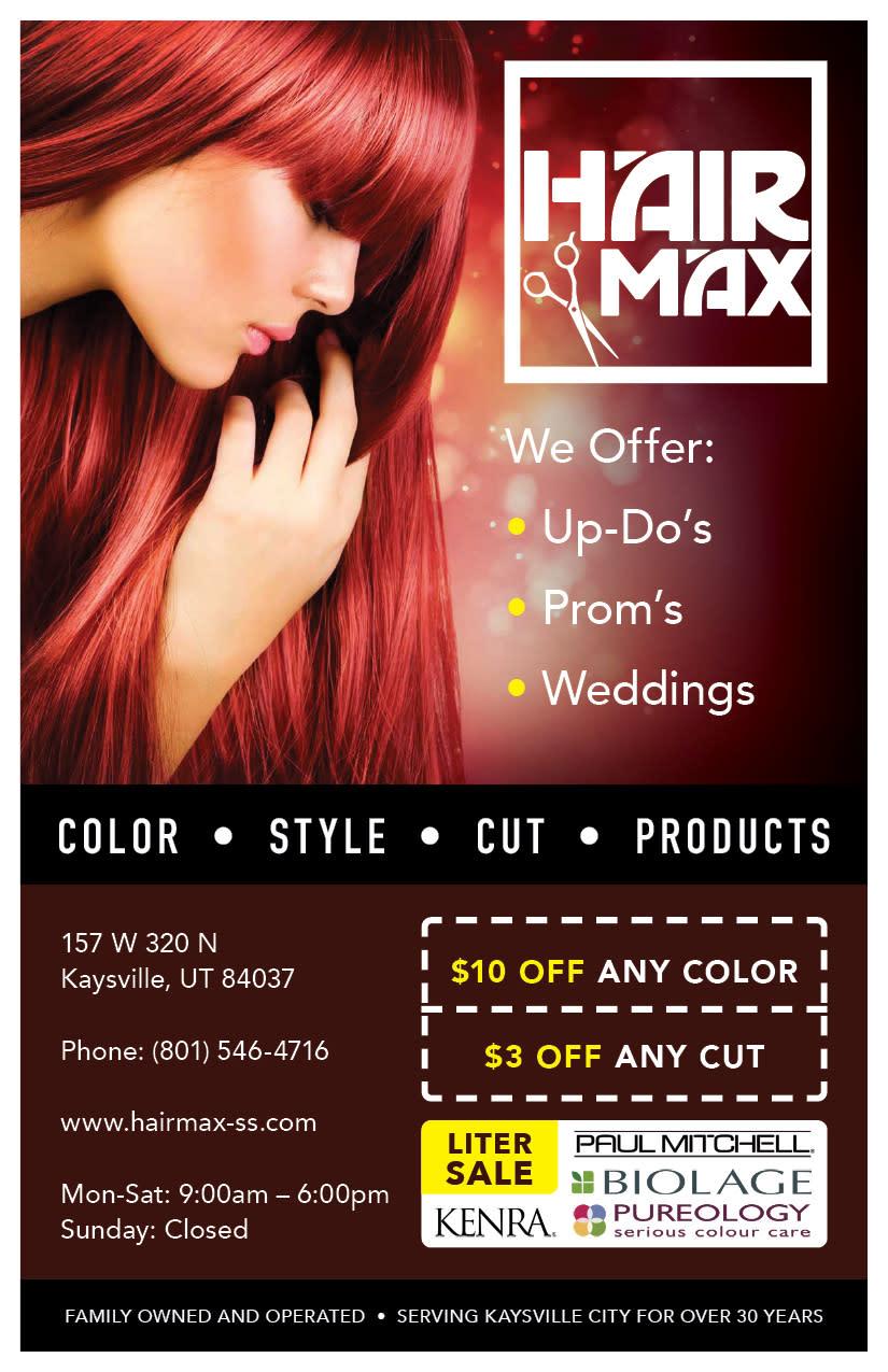 Hairmax   Kaysville Cares Ad