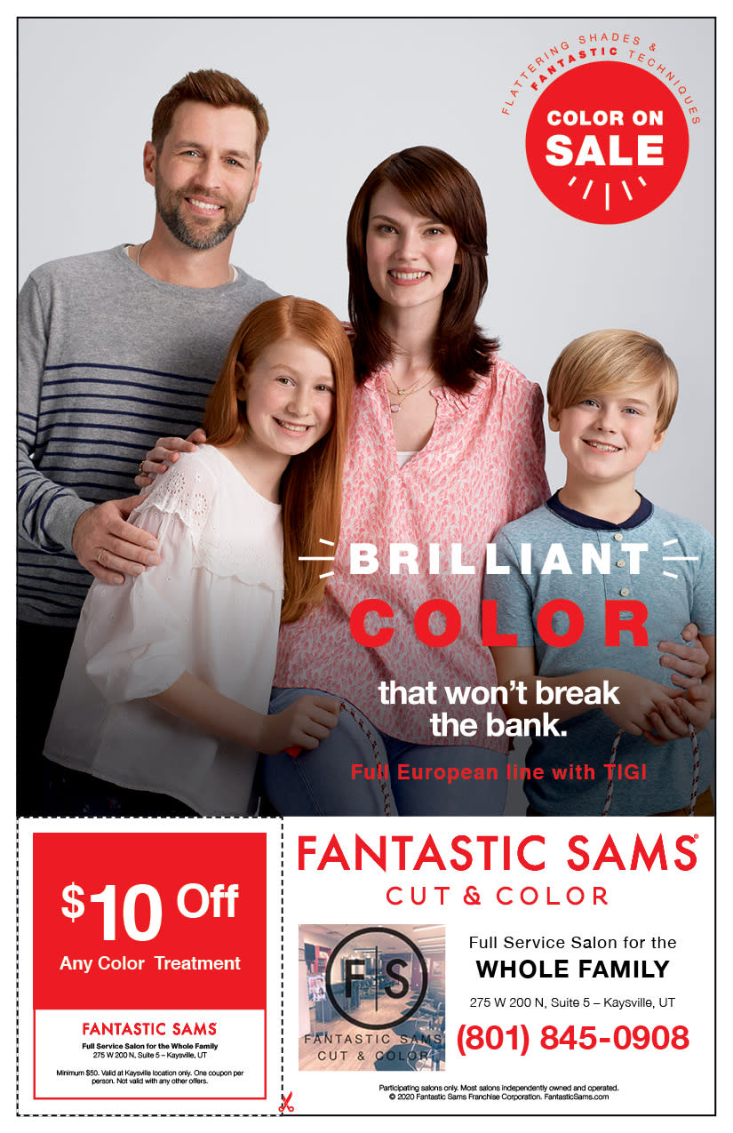 Fantastic Sams   Kaysville Cares Ad