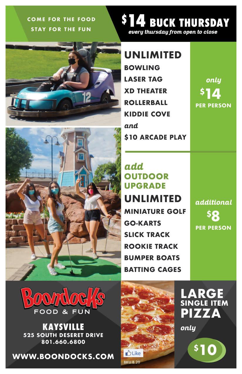 Boondocks Fun Center | Kaysville Cares Ad