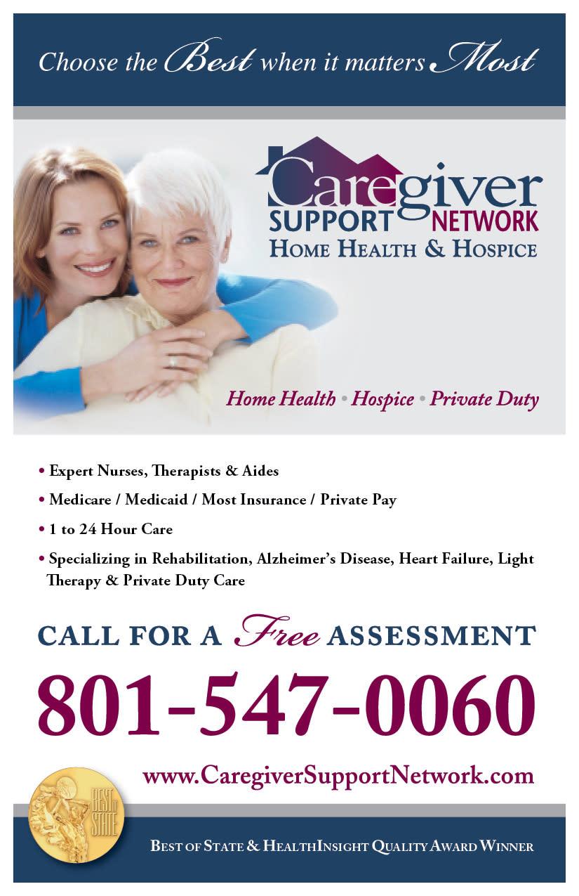 Caregiver Support Network | Kaysville Cares Ad