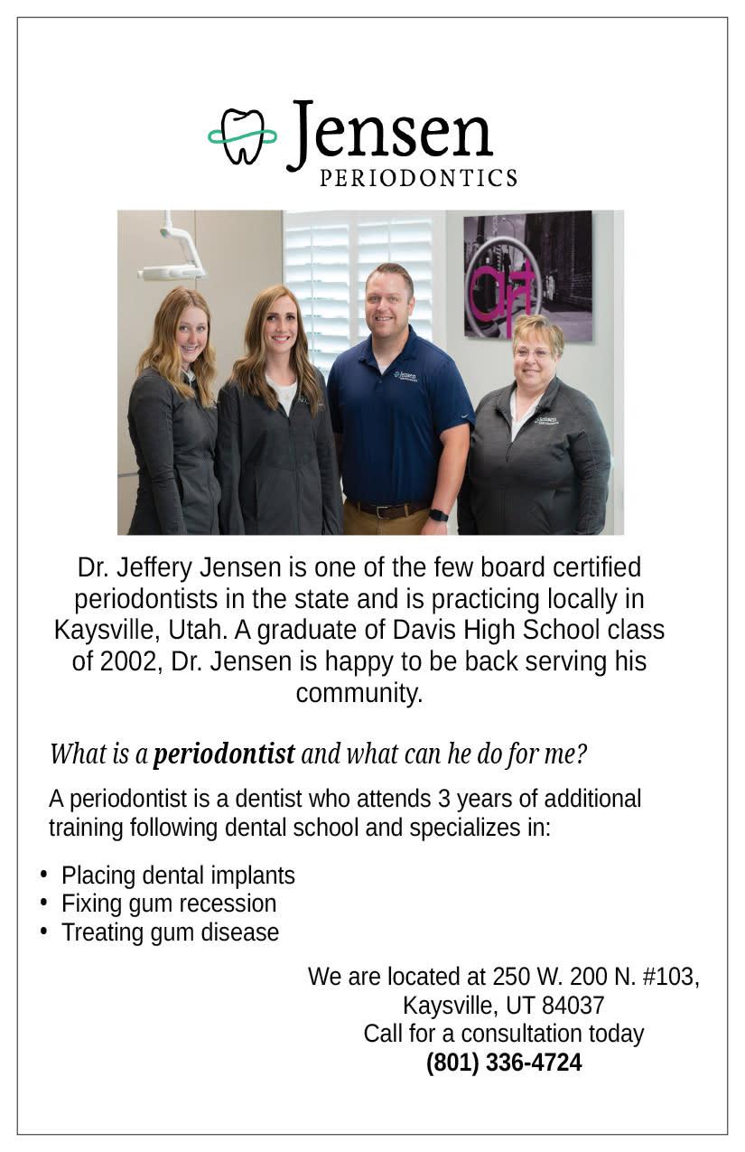 Jensen Periodontics   Kaysville Cares Ad