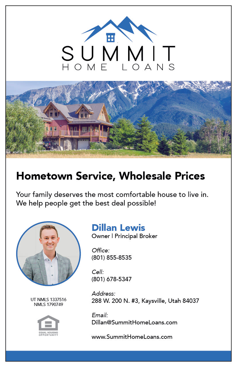 Summit Home Loans   Kaysville Cares Ad
