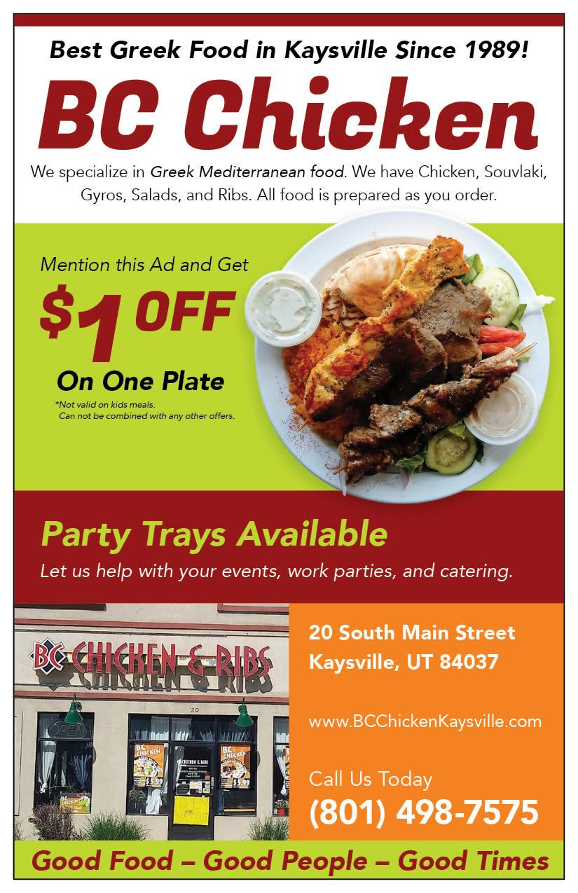 BC Chicken | Kaysville Cares Ad