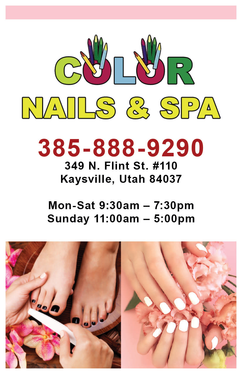 Color Nails and Spa | Kaysville Cares Ad