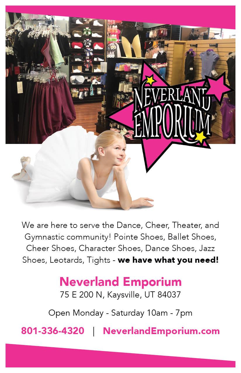 Neverland Emporium | Kaysville Cares Ad