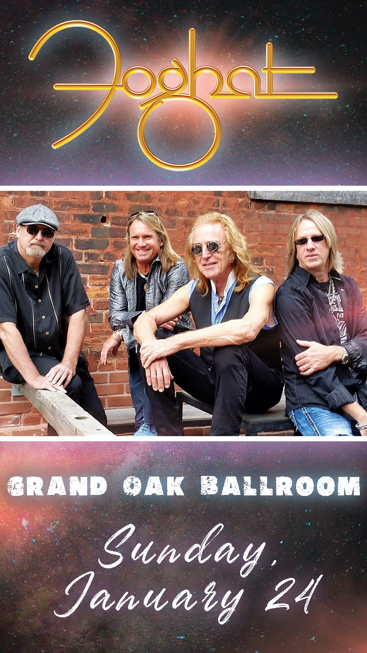 Picture of Foghat; Concert Sunday, January 24th, 2021; Grand Oak Ballroom