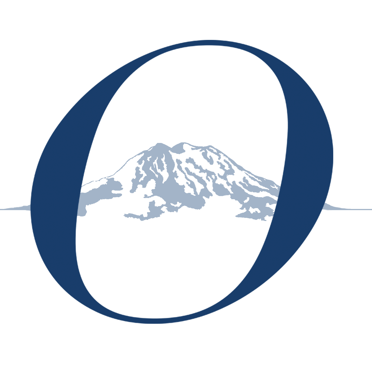 O with Mountain in background- Logo