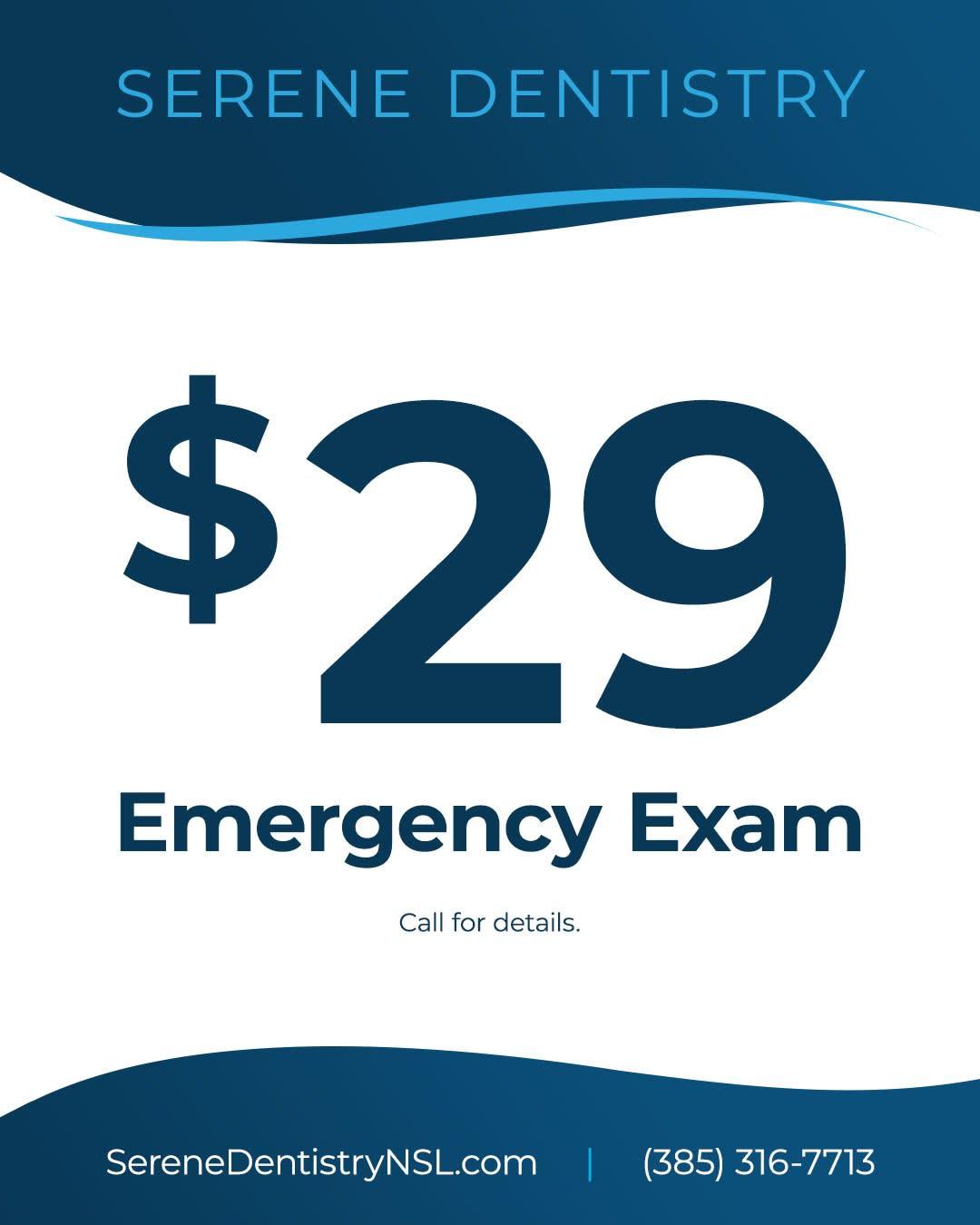 $29 Emergency Exam
