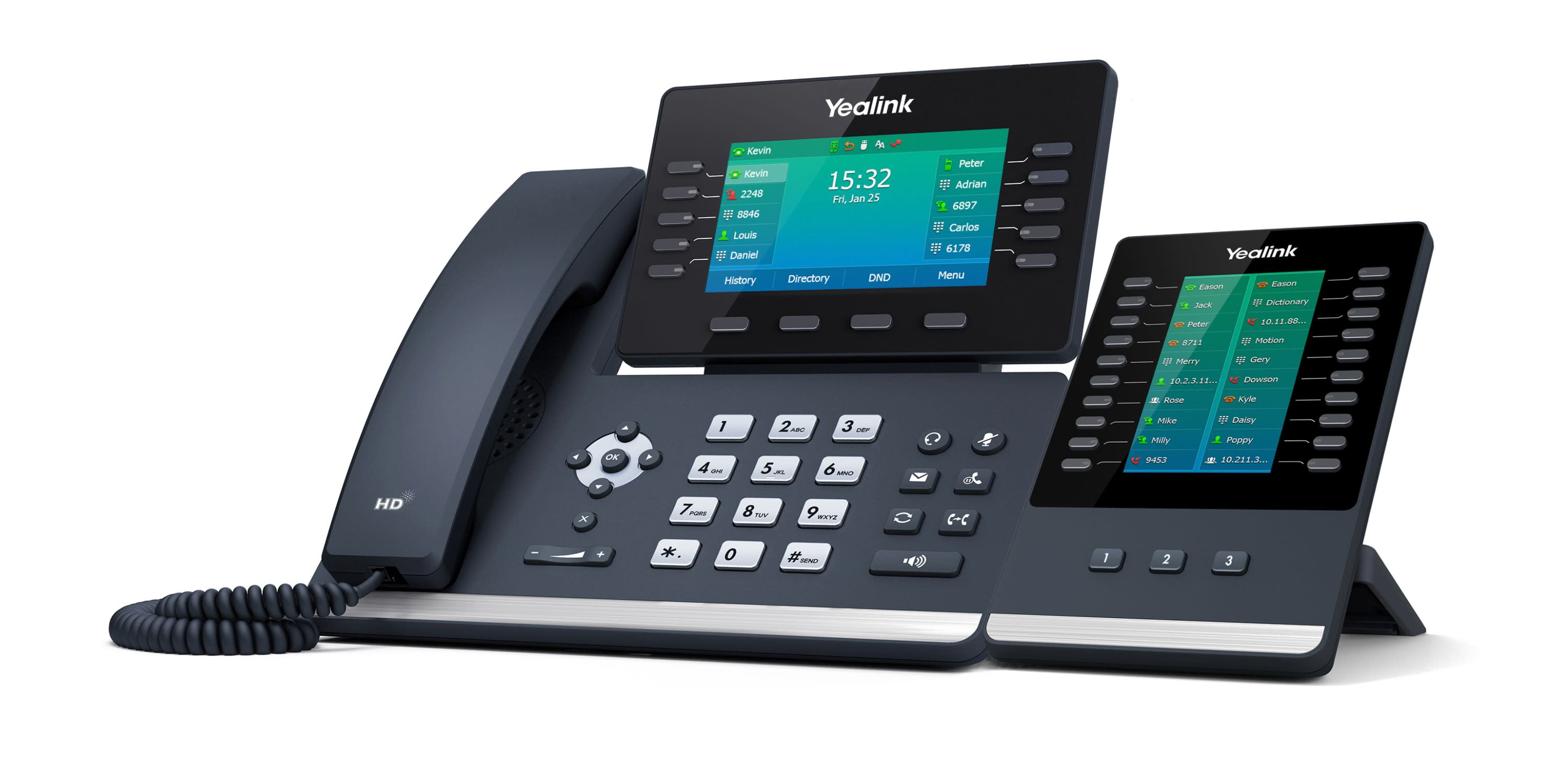 Yealink SIP-T54W Color Prime Business Phone w/ Side Car attachment