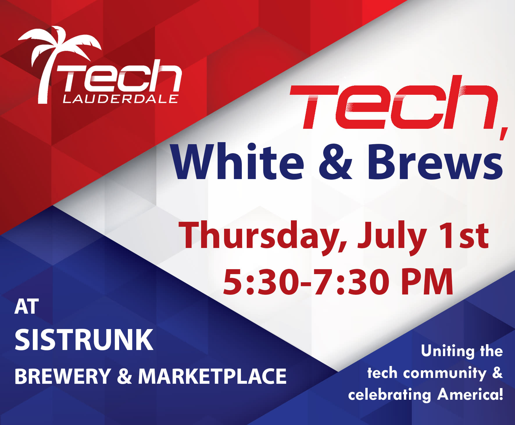 Tech, White & Brews Event at Sistrunk Marketplace & Brewery