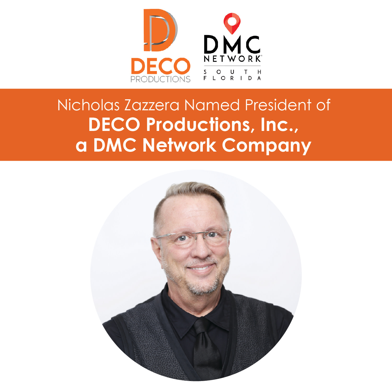 Nicholas Zazzera Named President of DECO Productions, Inc., a DMC Network Company
