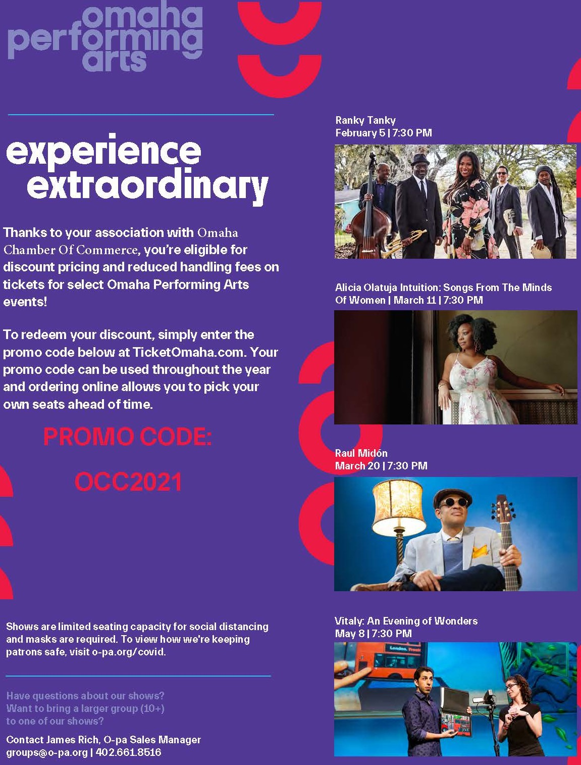 Omaha Chamber of Commerce Promo Code to Omaha Performing Arts