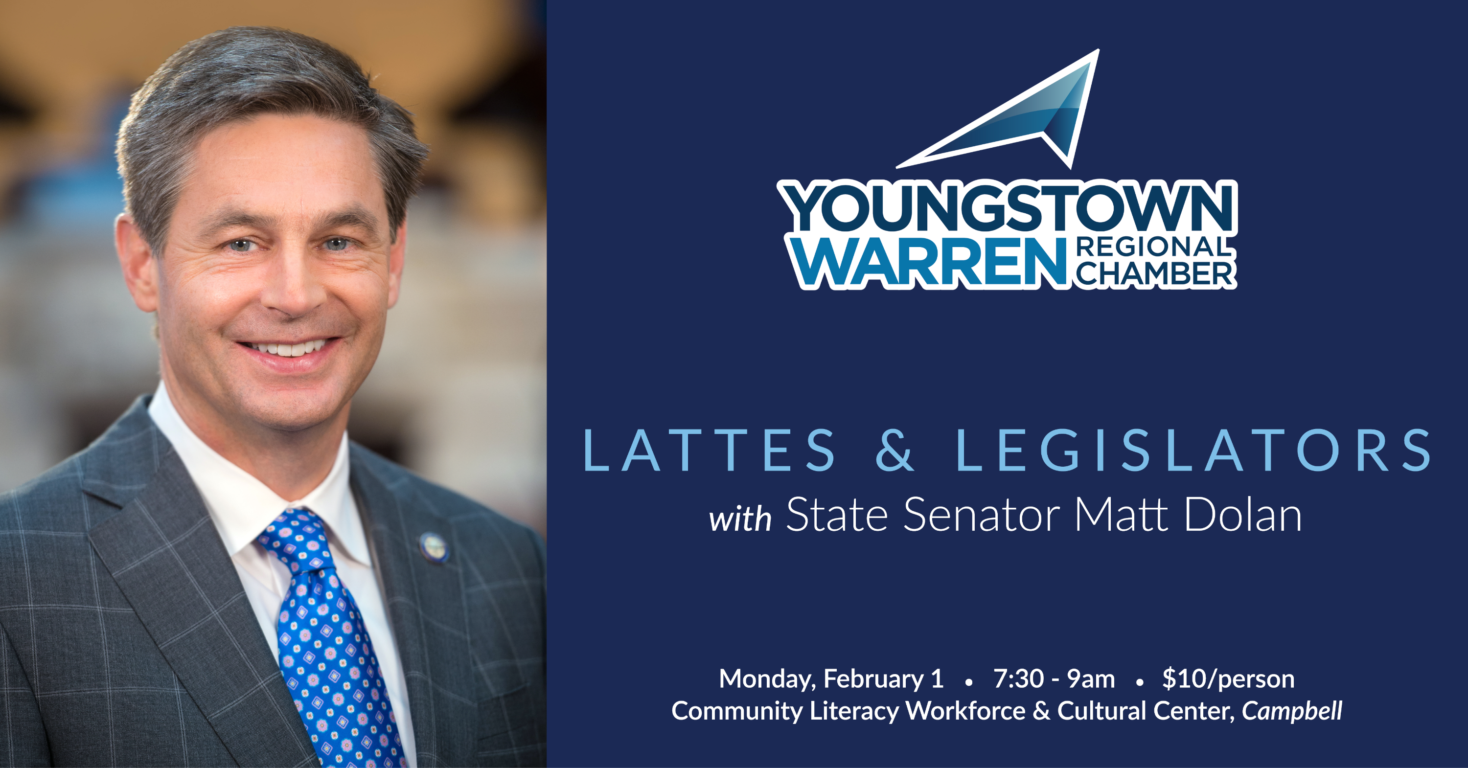 Lattes with Senator Dolan