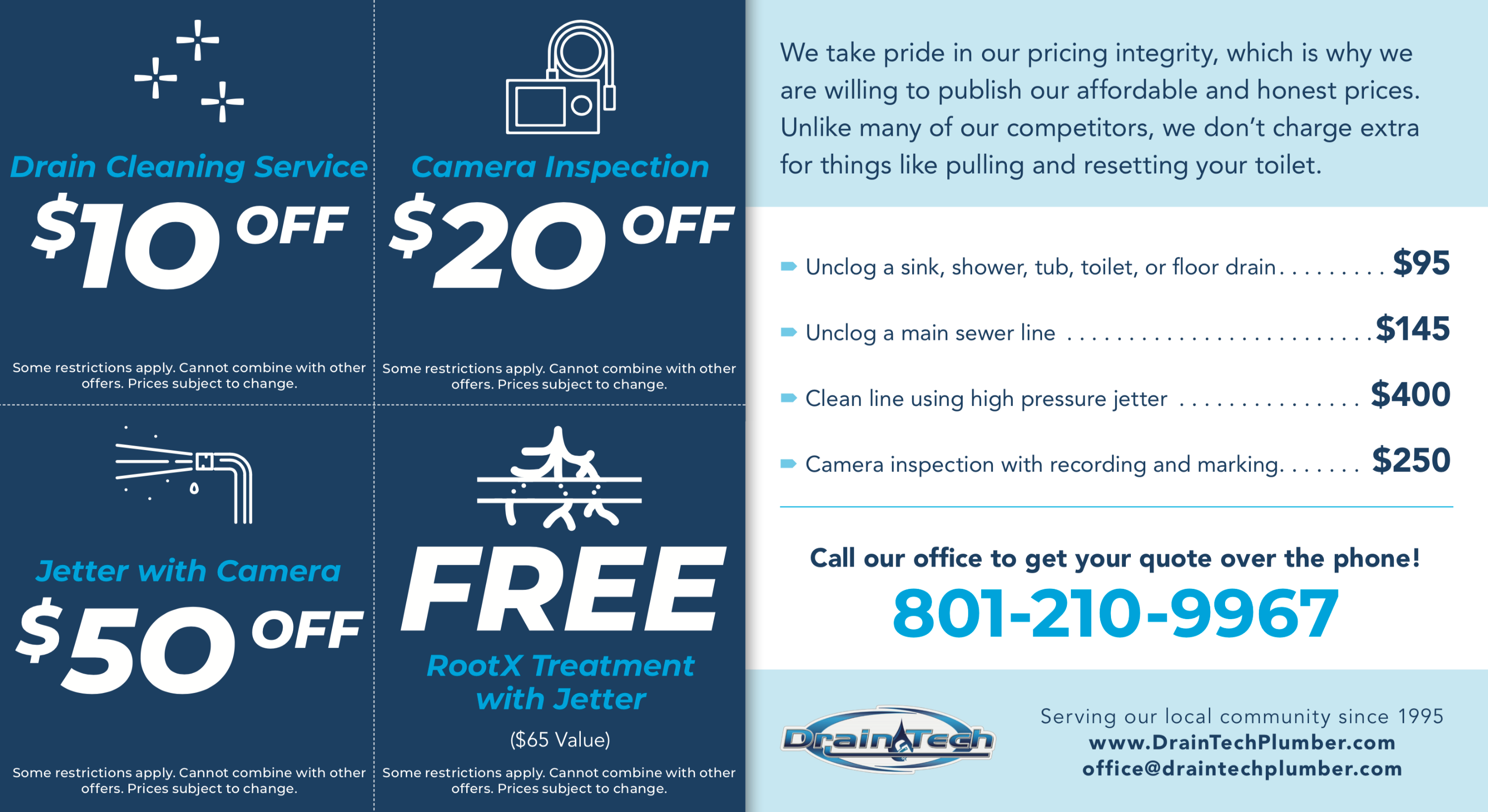 Drain Tech Coupon Offers