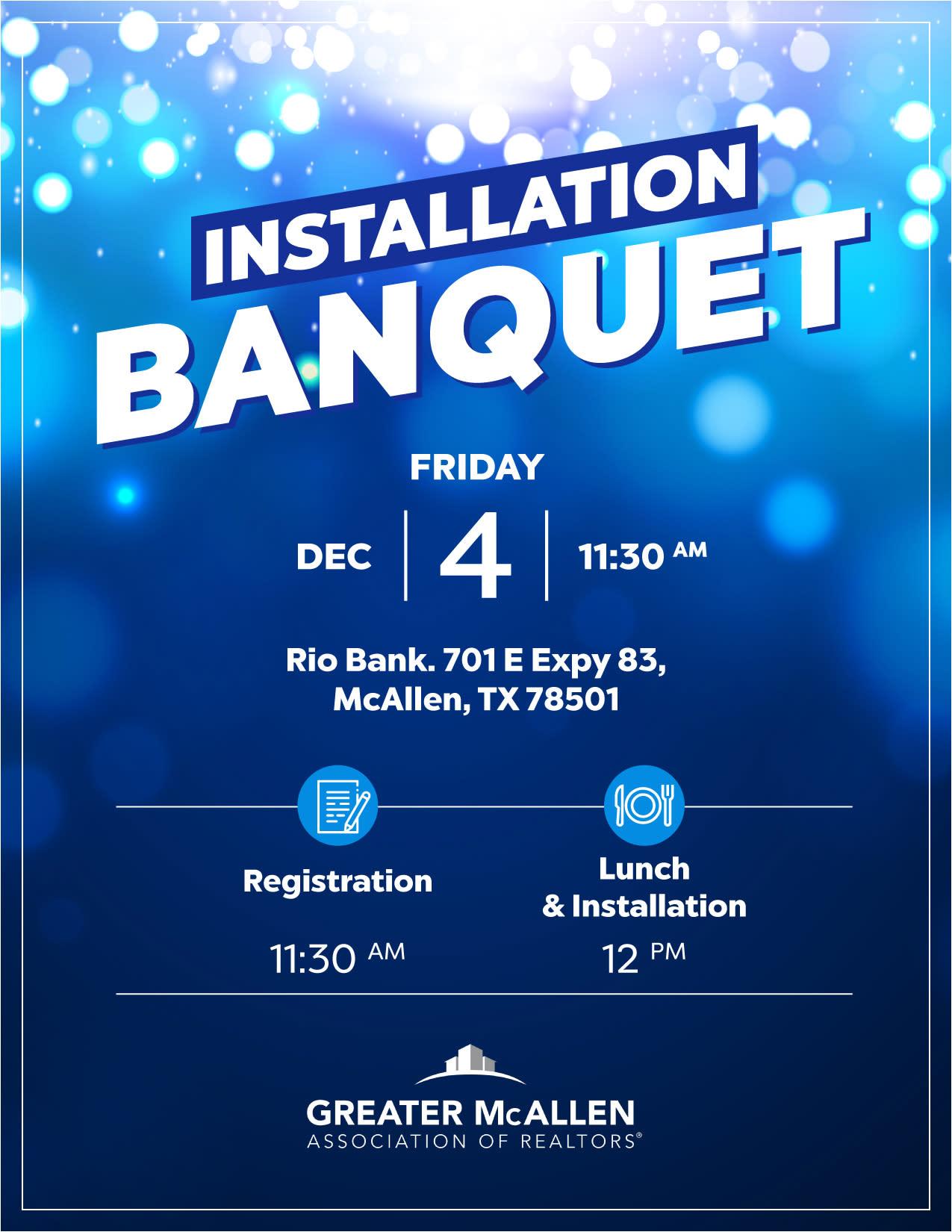 Flyer - 2020 Installation Banquet