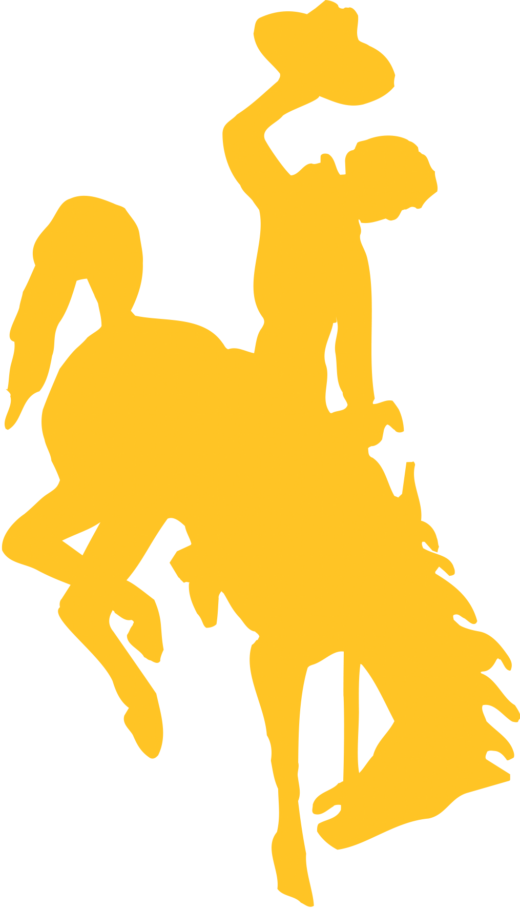 Steamboat University of Wyoming Logo in Gold