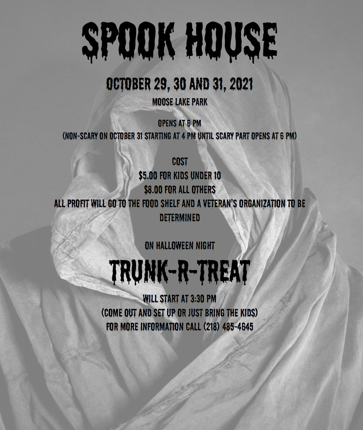 Spook house flyer