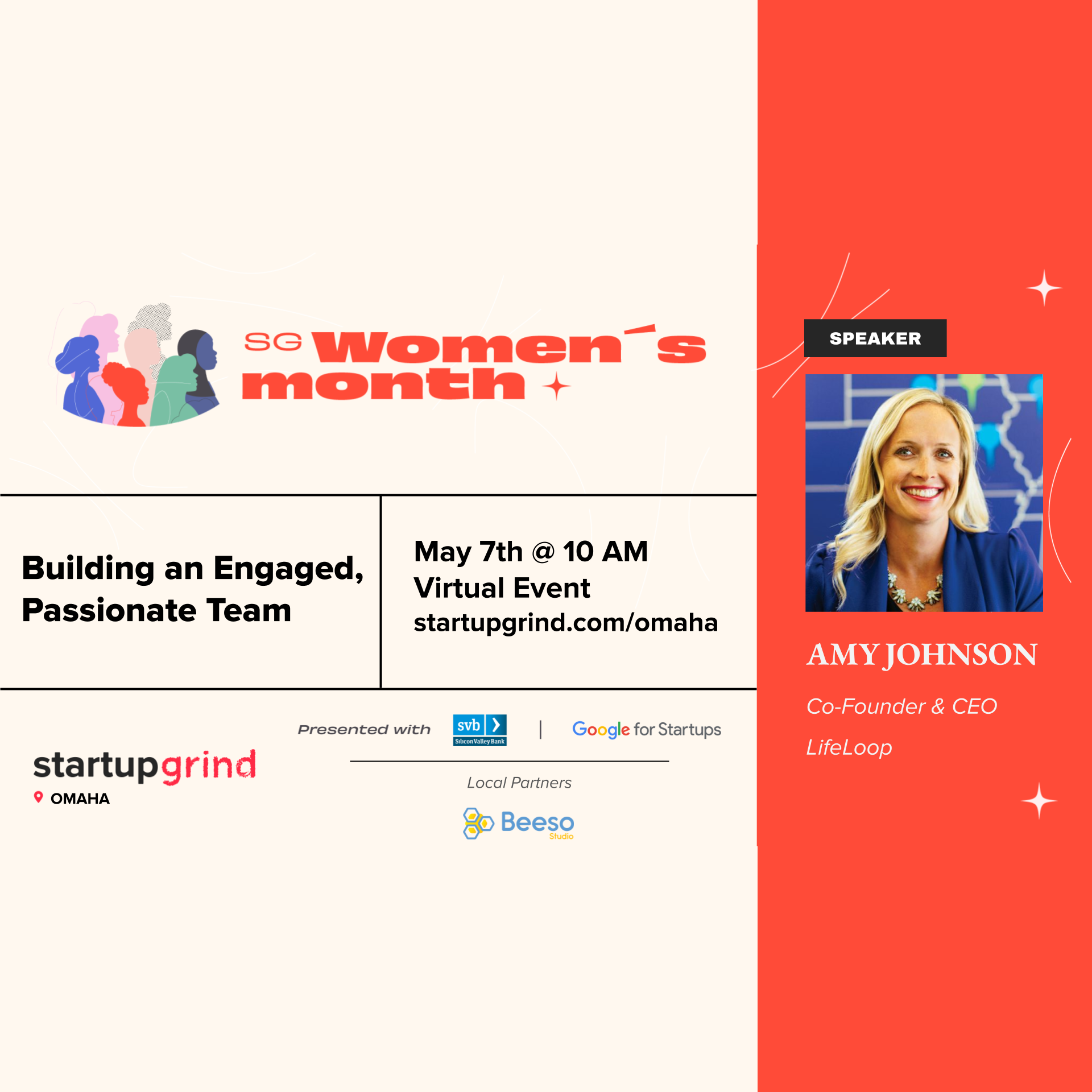 Startup Grind Women's Month with Amy Johnson