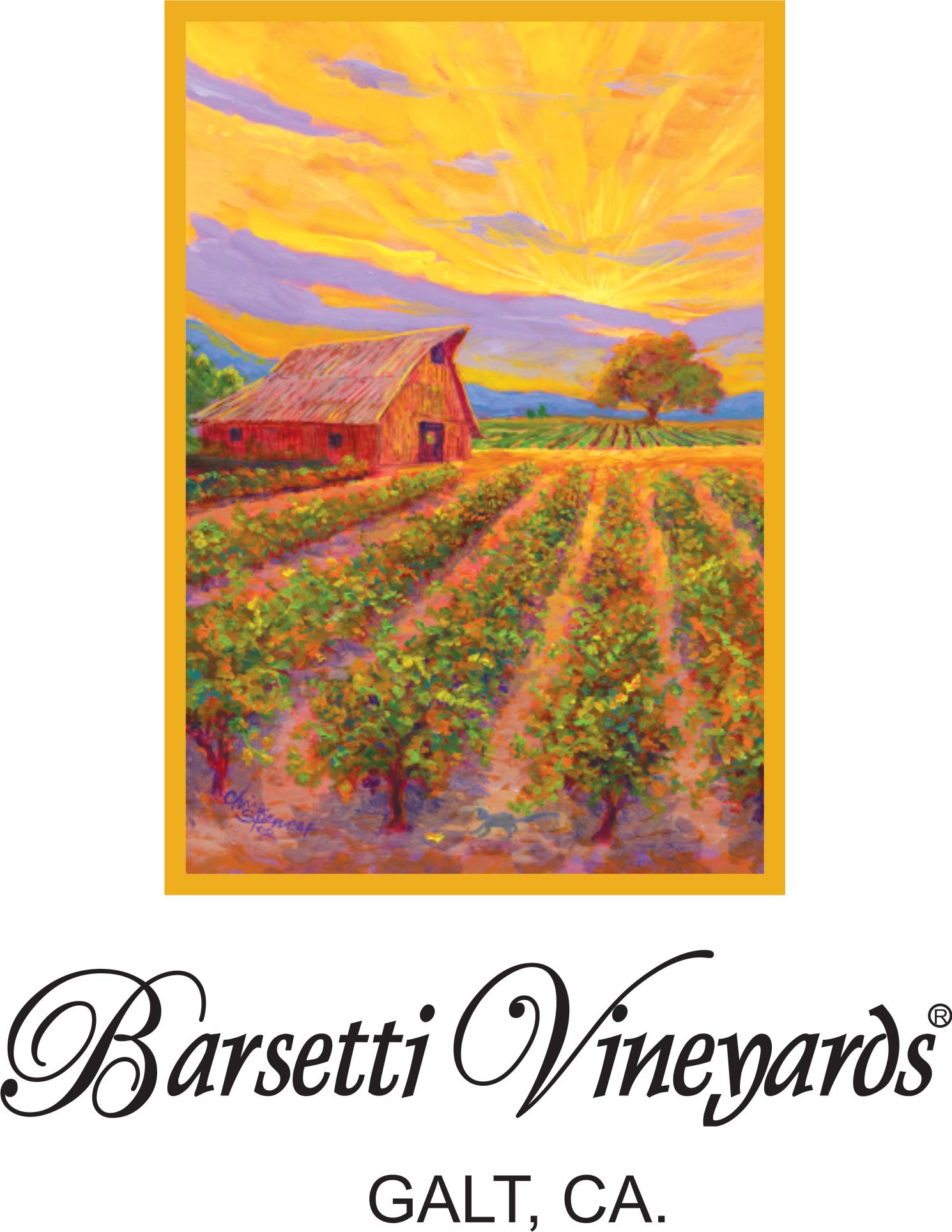 "Barsetti Vineyards ""GALT, CA"" logo"