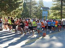 Participants at the Annual run Through the Pines