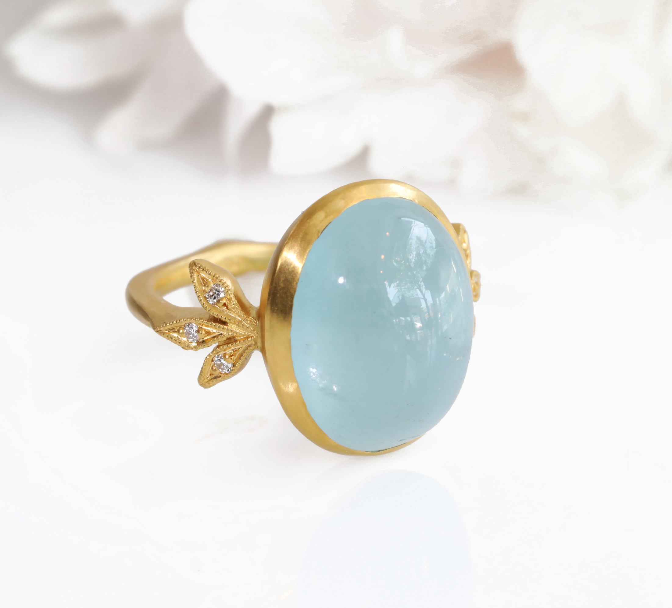 Cathy Waterman Aquamarine Ring