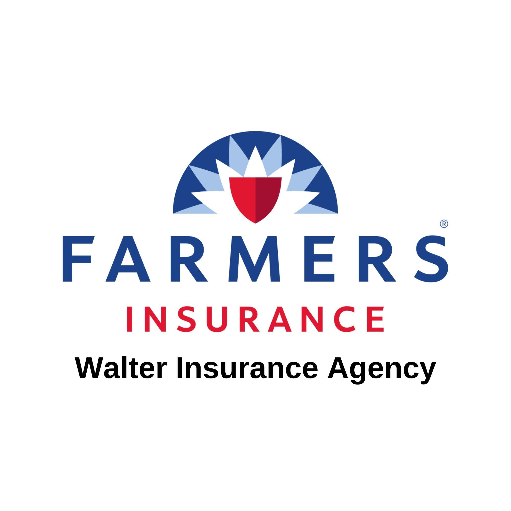 A graphic for Walter Insurance Agency, affiliated with Farmers Insurance.