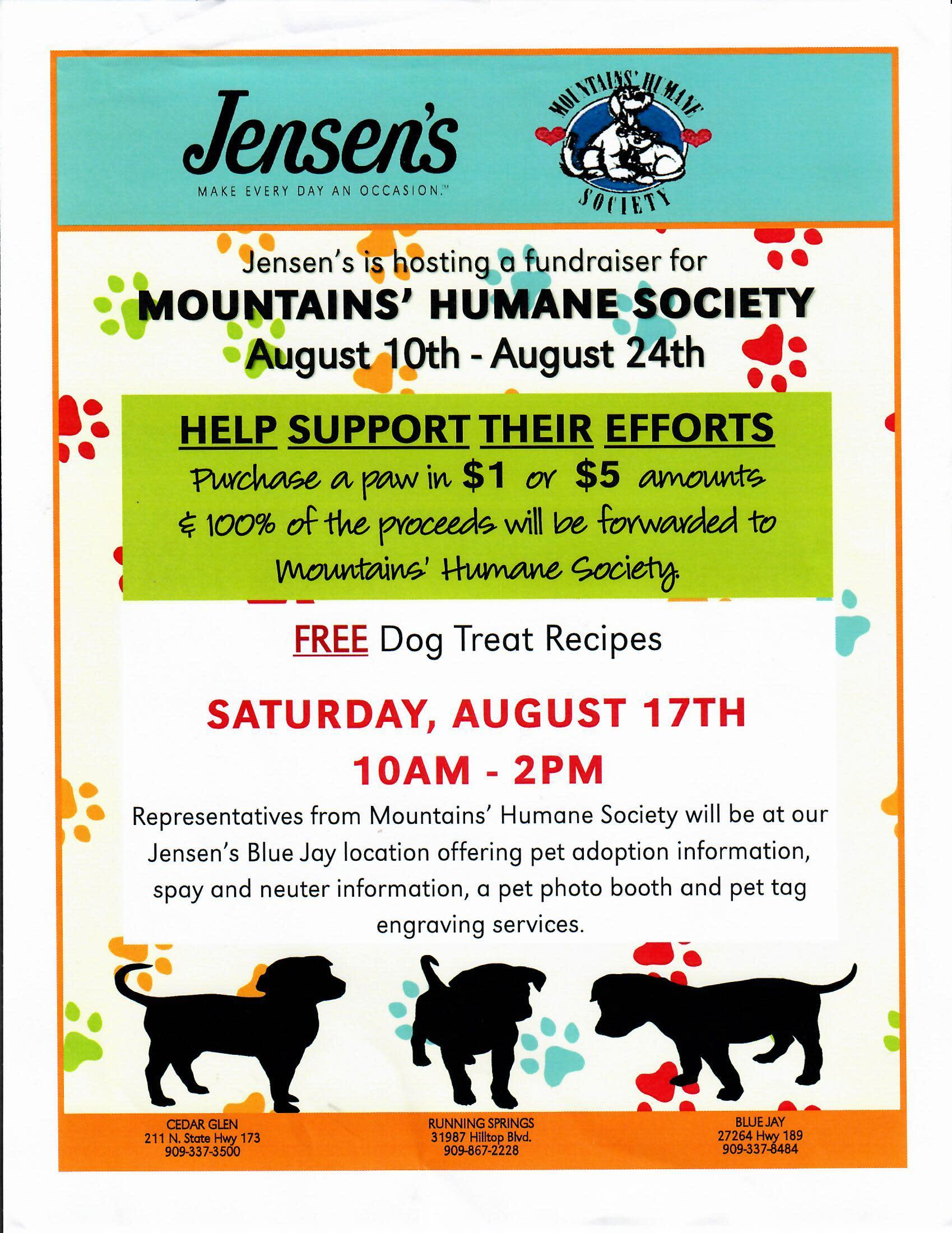 Support Mountains' Humane Society