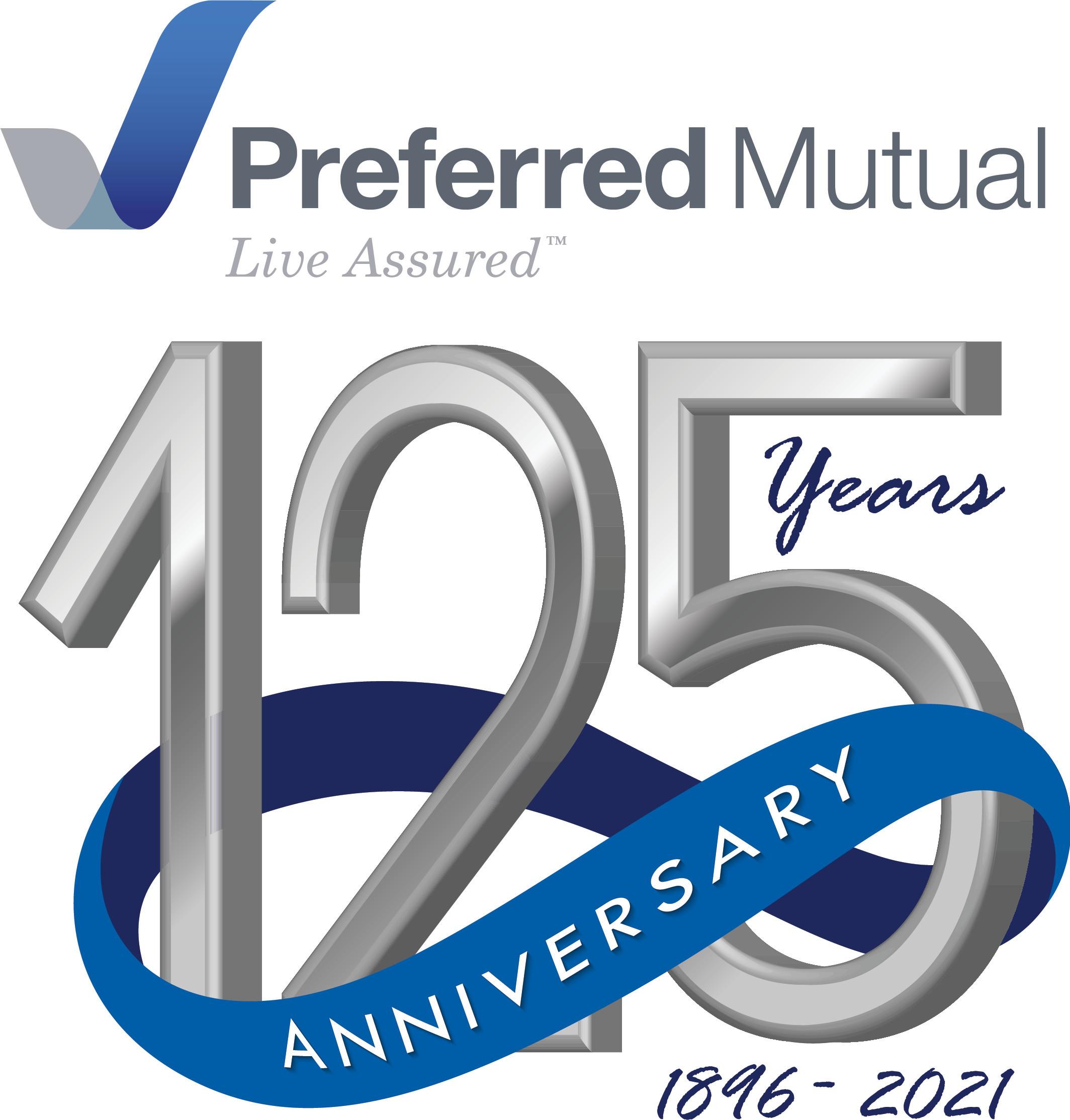 Preferred Mutual 125th Anniversary logo