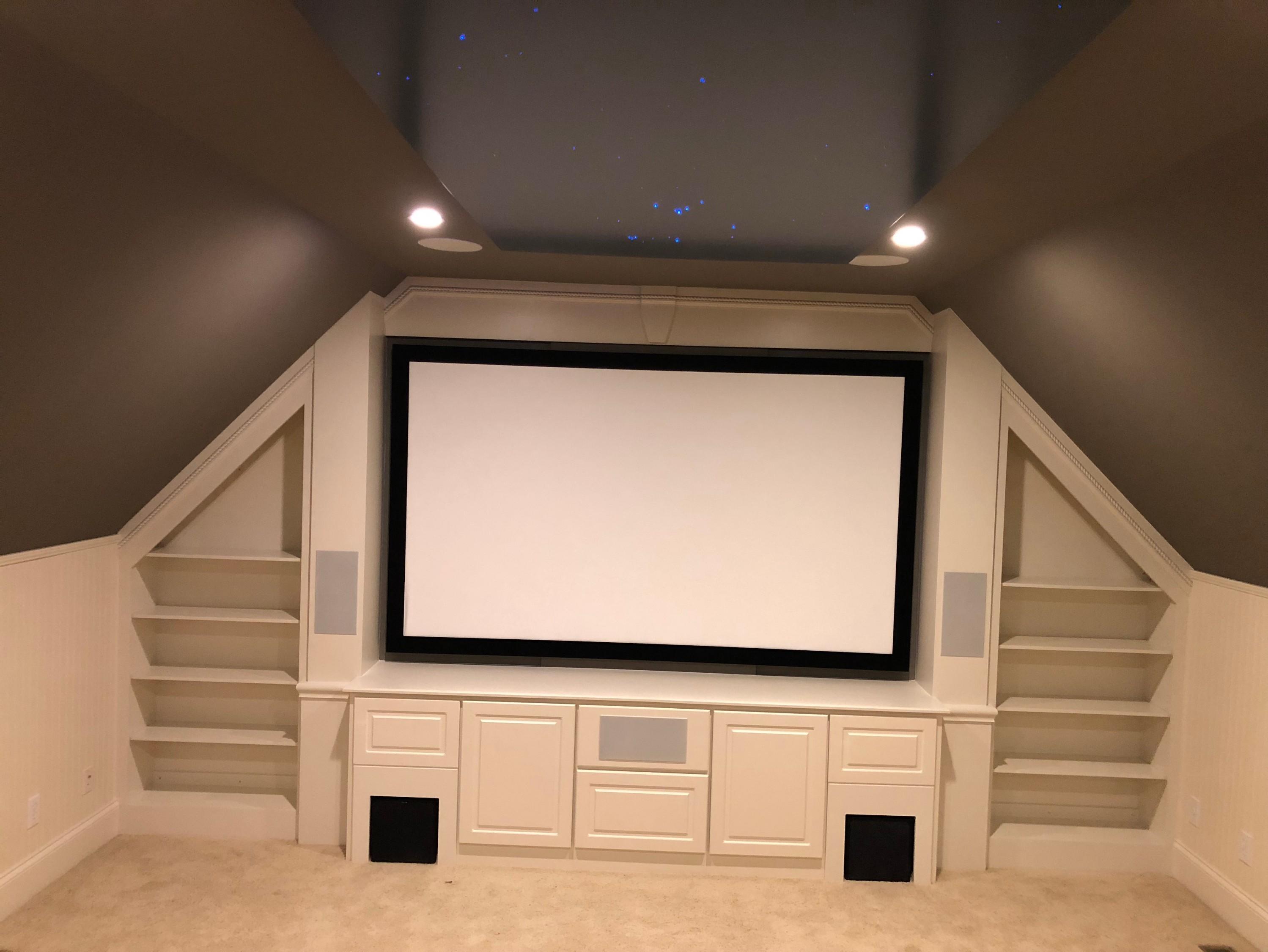 Proscenium with Bookshelves
