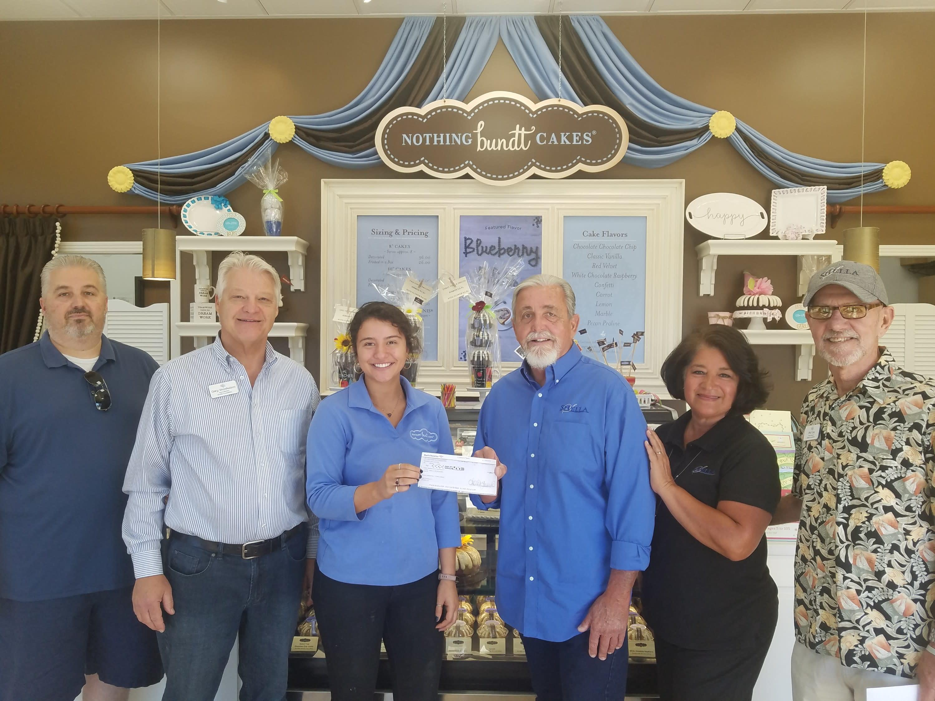 fundraiser with noting bundt cakes