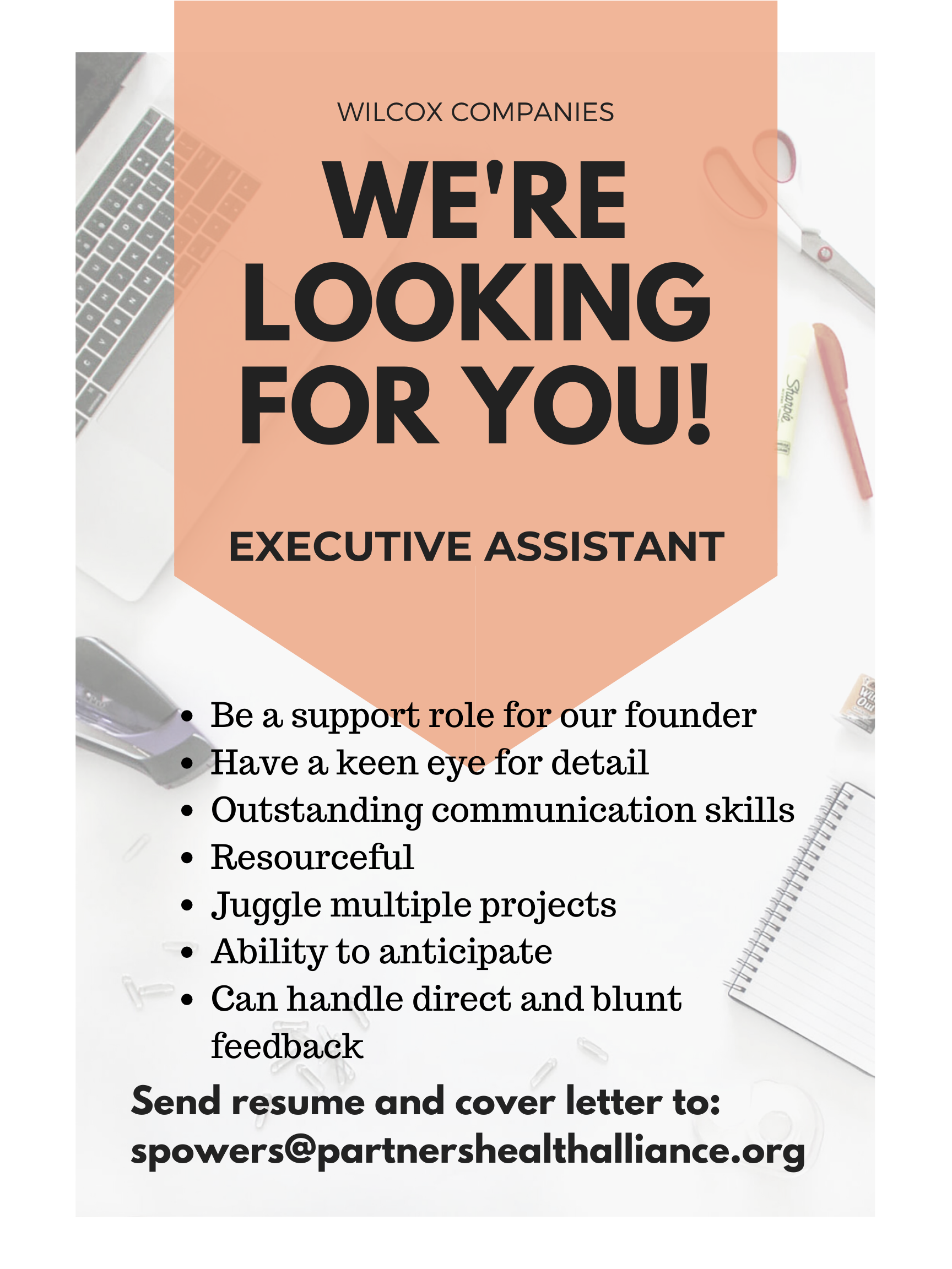 Executive Assistant, Detailed, Great Communicator