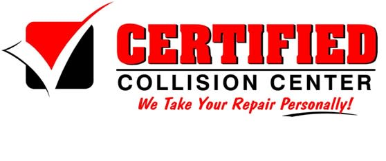 """Certified Collision Center """"We Take Your Repair Personally!"""" logo - June 30 2021"""