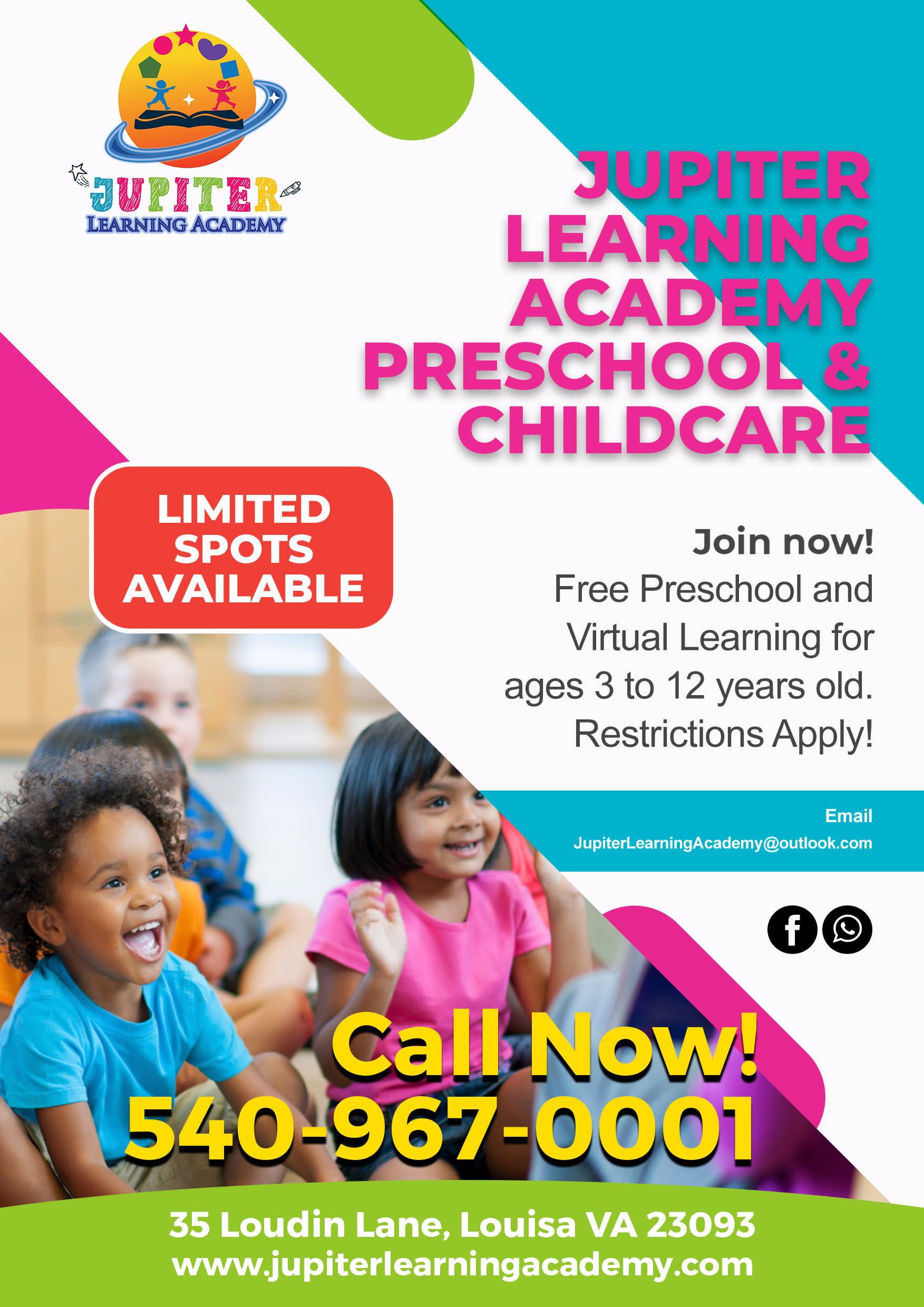 FREE PRESCHOOL & VIRTUAL LEARNING