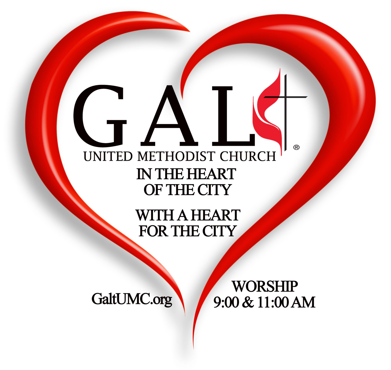 Galt United Methodist Church logo 2021
