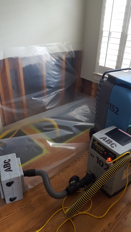 Drying wood floors