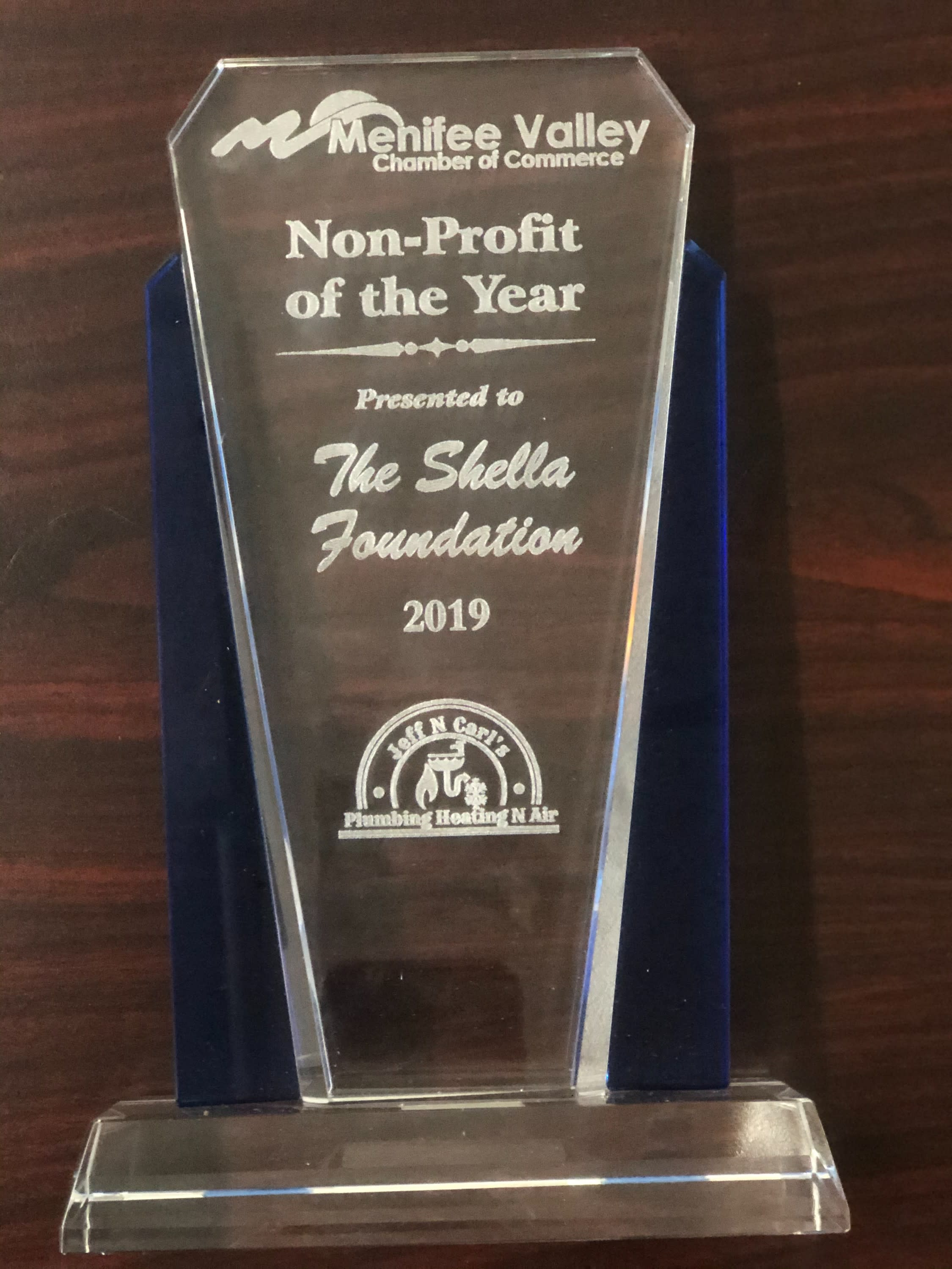 photo showing non-profit of the year award
