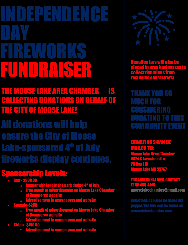 fundraiser flyer for fireworks