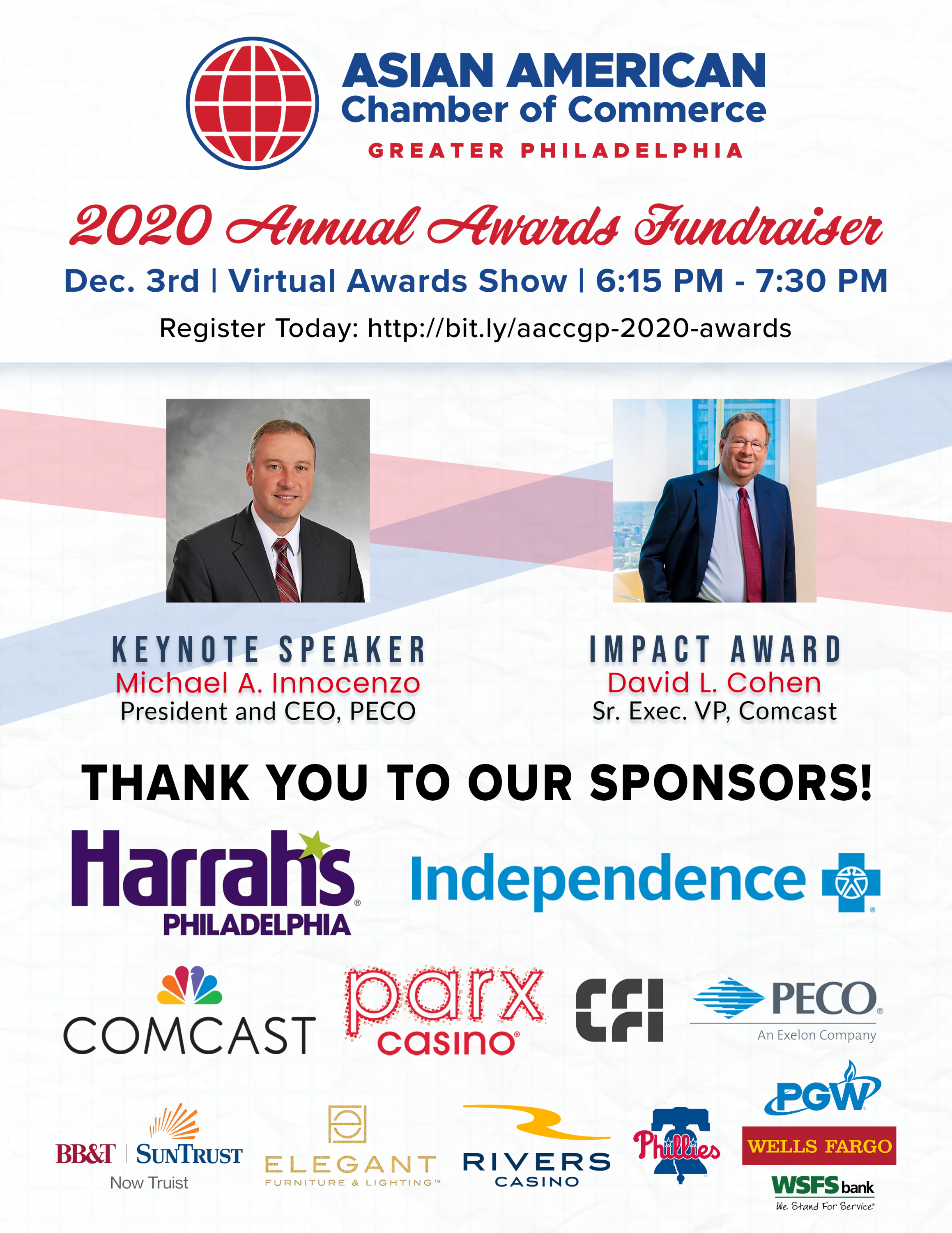 Annual Awards flyer with list of sponsors