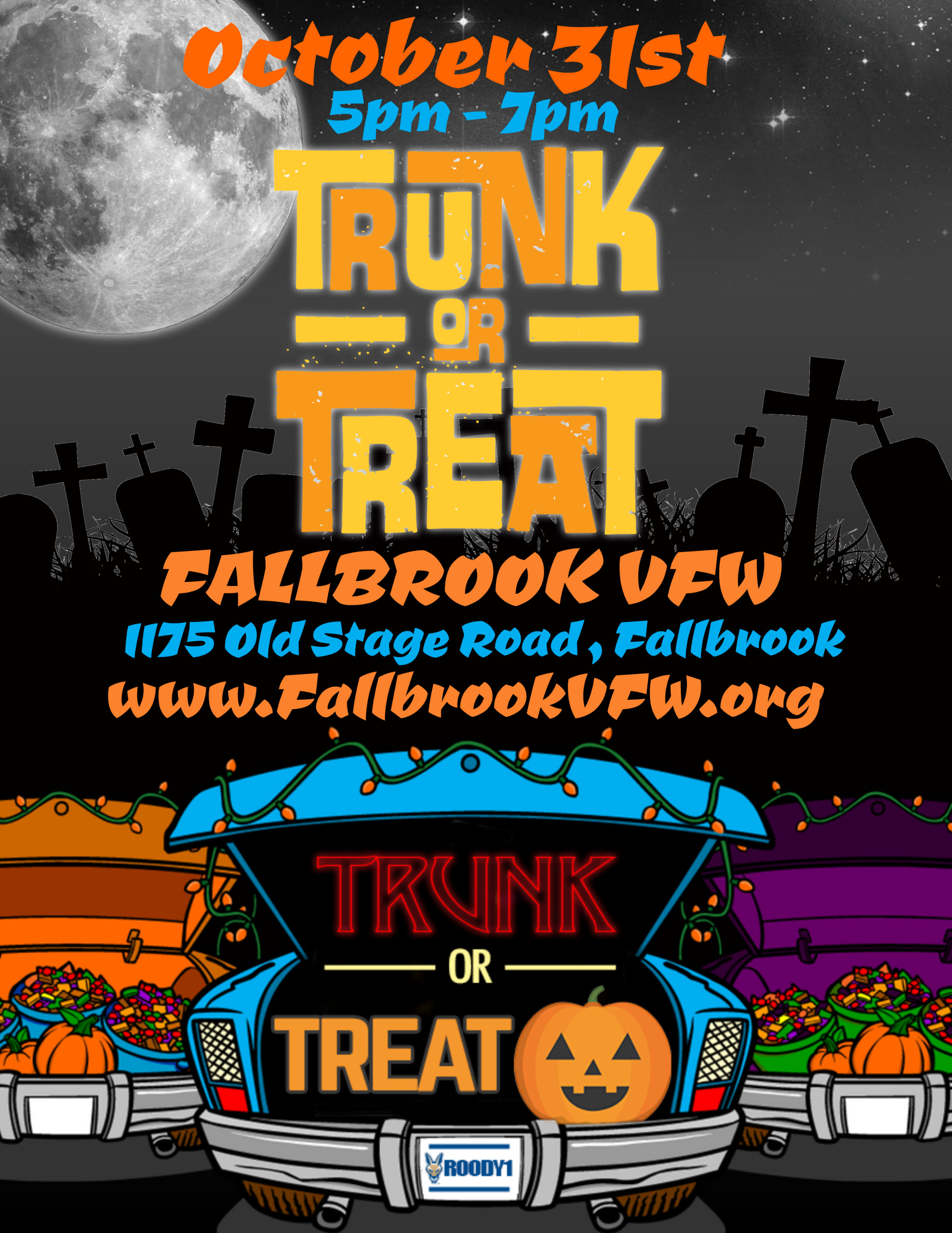 Trunk or Treat OCT 31st 5pm-6pm