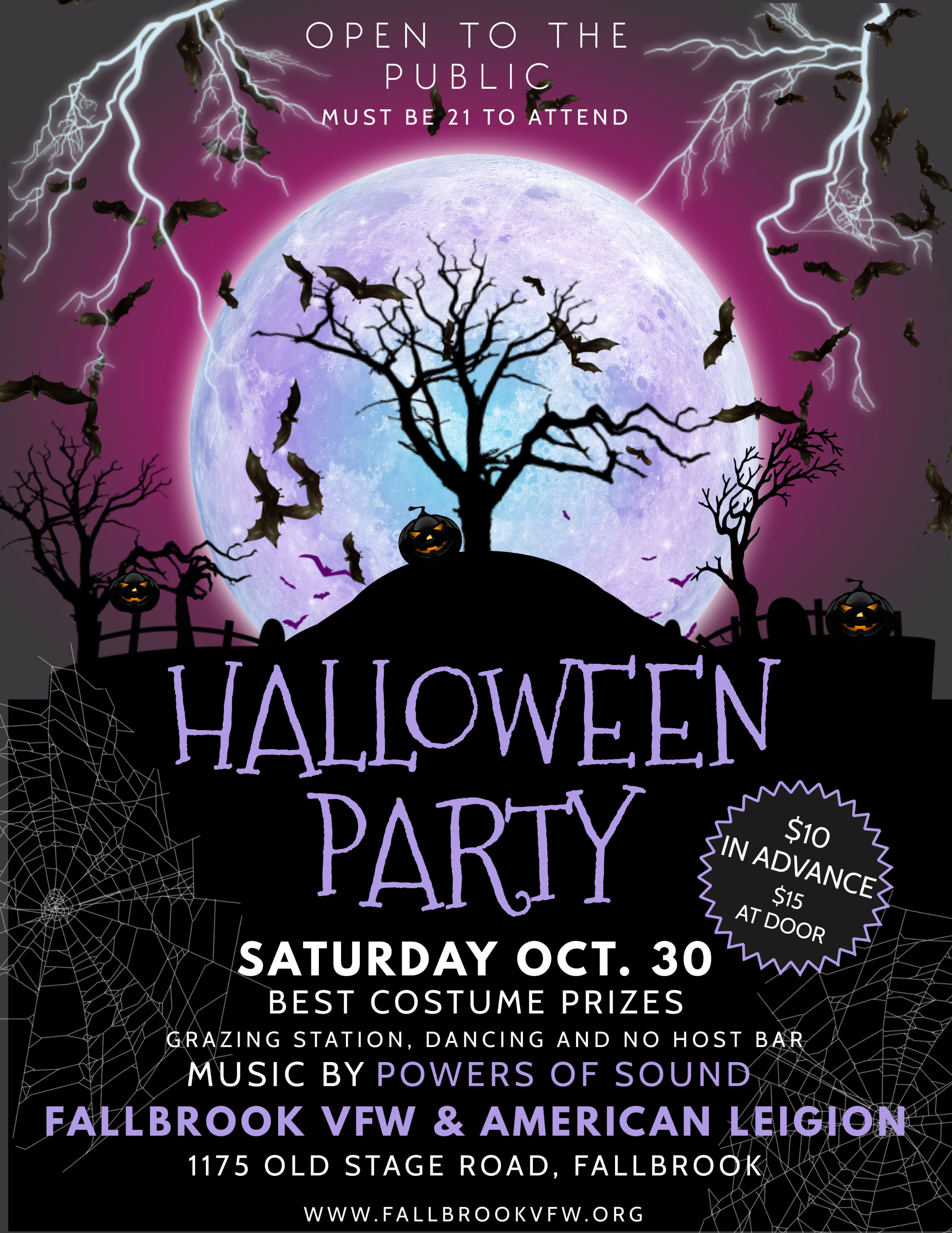 Halloween Party @ VFW 10.30 @6:30pm