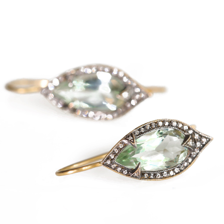 Cathy Waterman Green Amethyst Earrings