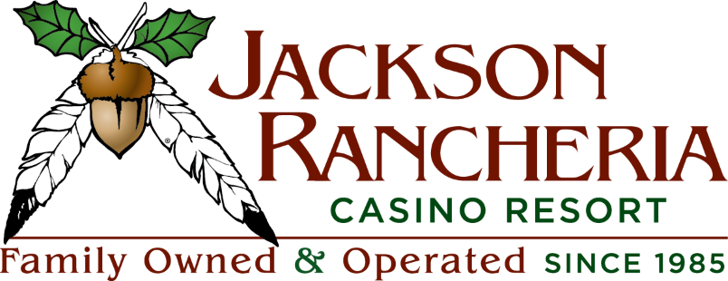 Jackson Rancheria Casino Resort logo; Family Owned & Operated since 1985