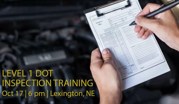 Level 1 DOT Inspection, SMC Lunch & Learn, Lexington