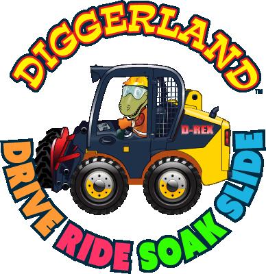 Diggerland circular logo-Drive, Ride, Soak, Slide