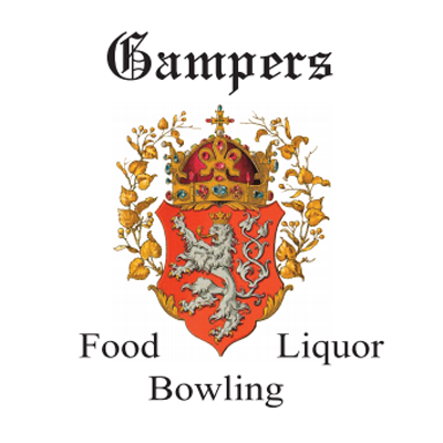 Gamper's Food, Liquor and Bowling logo
