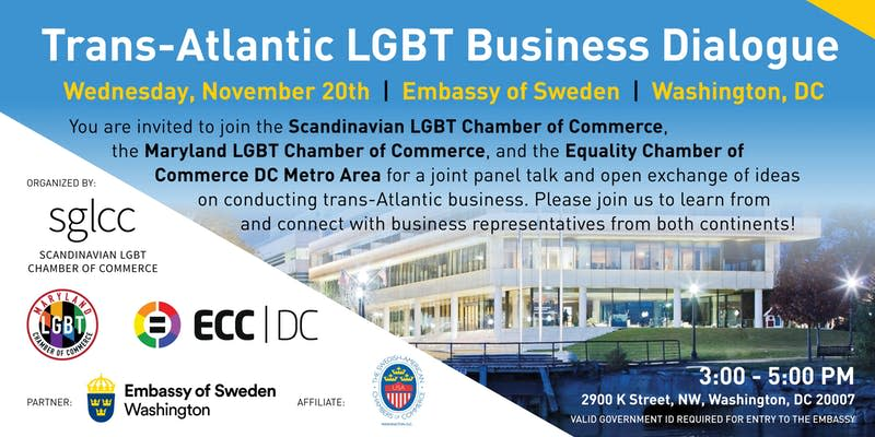 Trans-Atlantic LGBT Business Dialogue, Hosted at the Swedish Embassy