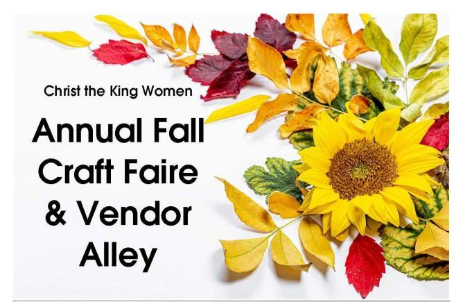 Craft Faire SAT, OCT 16th 8am-1:30pm at Christ the King Church