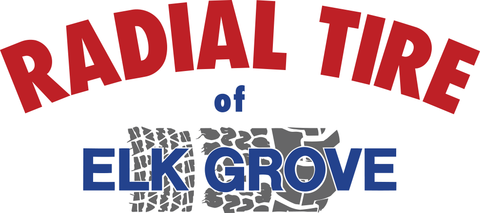 Radial Tire of Elk Grove logo in red and blue writing