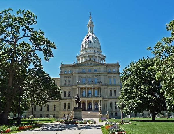 Michigan Capitol Building in Lansing
