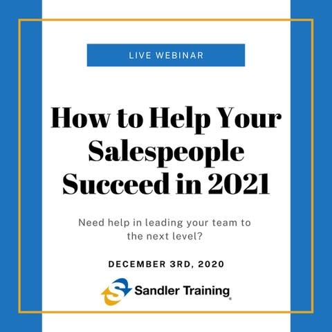 How to Help Your Salespeople Succeed in 2021